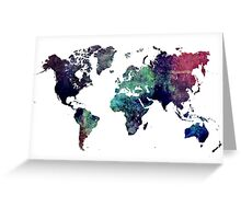 Map world art after Ice age Greeting Card