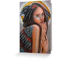 Crow Woman Greeting Card