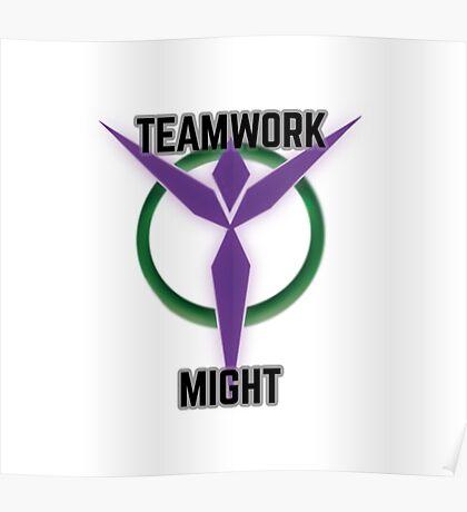 Teamwork Might Poster