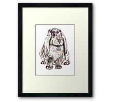 Peace Bunny Framed Print