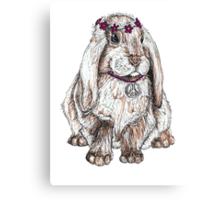 Peace Bunny Canvas Print