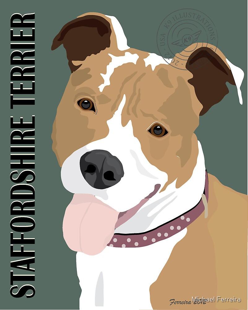 Staffordshire Terrier by Michael Ferreira