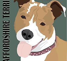 Staffordshire Terrier by Michael Ferreira