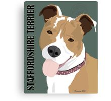 Staffordshire Terrier Canvas Print