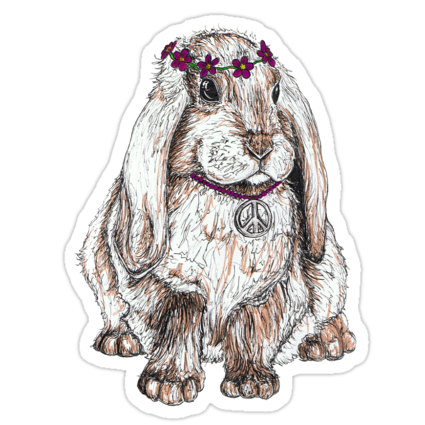 Peace Bunny by kirstenmcnee