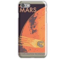 Explore Mars Travel Poster iPhone Case/Skin