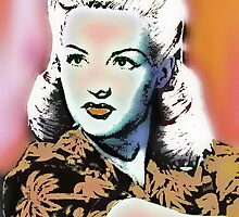 BETTY GRABLE-BOMBSHELL (POP-ART) by OTIS PORRITT