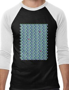 3D Geometric patterns - Colorful cube pattern Men's Baseball ¾ T-Shirt