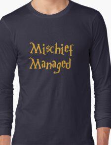 Mischief Managed Shirt Long Sleeve T-Shirt