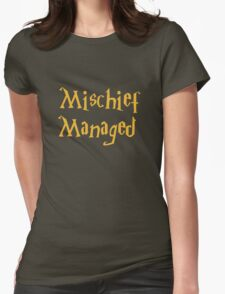 Mischief Managed Shirt Womens Fitted T-Shirt