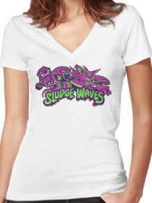 Poison Types - Sludge Waves Women's Fitted V-Neck T-Shirt