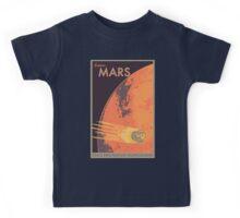Explore Mars Travel Poster Kids Tee