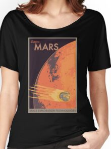 Explore Mars Travel Poster Women's Relaxed Fit T-Shirt