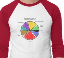 Wheel of Happiness Domination Men's Baseball ¾ T-Shirt