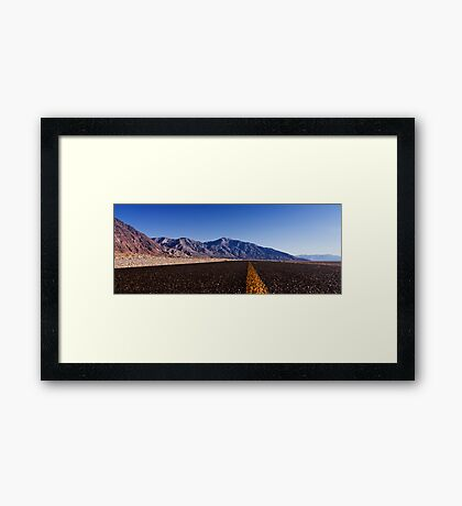 Death Valley Road.  Framed Print