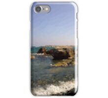 The beach in oil paint illustration  iPhone Case/Skin