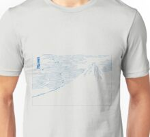 Blue Mount Fuji Unisex T-Shirt