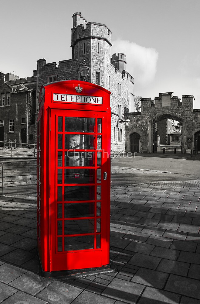 Windsor Castle Red Telephone Box by Chris Thaxter