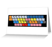 Avid Keyboard Greeting Card