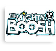 The Mighty Boosh – Dripping Blue Writing & Mask Canvas Print