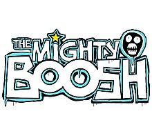 The Mighty Boosh – Dripping Blue Writing & Mask Photographic Print