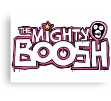 The Mighty Boosh – Dripping Pink Writing & Mask Canvas Print