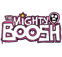 The Mighty Boosh – Dripping Pink Writing & Mask Photographic Print