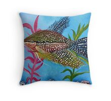 Pearl Gourami Throw Pillow