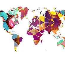 Map of the world geometric colored by JBJart
