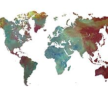 World Map after dark by JBJart