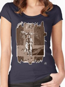 Lady of the dead (sepia) Women's Fitted Scoop T-Shirt