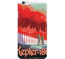 Space Travel Poster - Kepler-186f iPhone Case/Skin