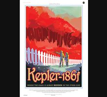 Space Travel Poster - Kepler-186f Womens Fitted T-Shirt