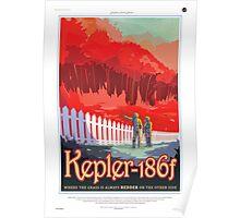 Space Travel Poster - Kepler-186f Poster