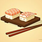 Cute Nigiri Couple by Carina Reis