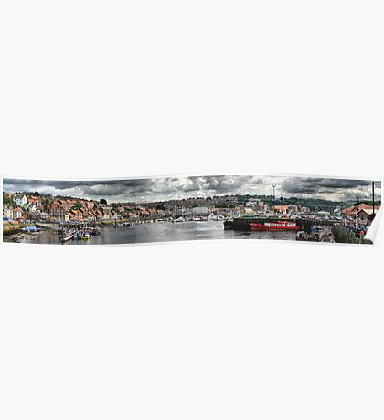 Whitby port Panorama Poster