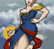 Captain Marvel ArtNerdveau Sticker