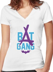 Kid Ink - Bat Gang Logo Women's Fitted V-Neck T-Shirt