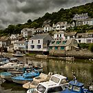 Moody Sky at Polperro Harbour by Jay Lethbridge