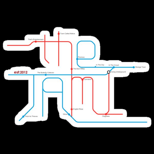 THE JAM Tube Map  by Sam Cain