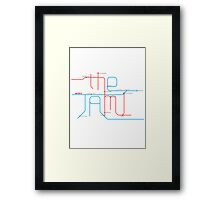THE JAM Tube Map  Framed Print