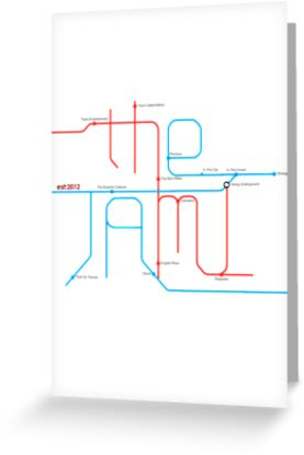 THE JAM Tube Map  by Sam Cain