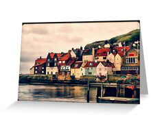 Retro Whitby Painting look Greeting Card