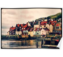 Retro Whitby Painting look Poster