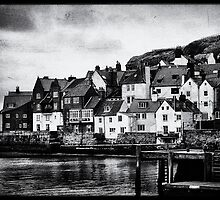 Retro Whitby b/w by Maria Tzamtzi