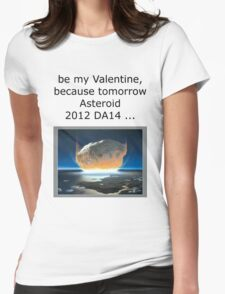 Valentines Asteroid Womens Fitted T-Shirt