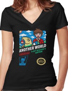 ANOTHER WORLD Women's Fitted V-Neck T-Shirt