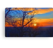 Sunset Orange-Blue Canvas Print