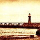 Whitby Lighthouses by Maria Tzamtzi