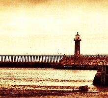 Whitby Lighthouses by Maria Tzamtzi
